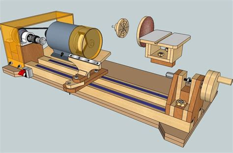 wood lathe bench plans crafters homemade lathe plans