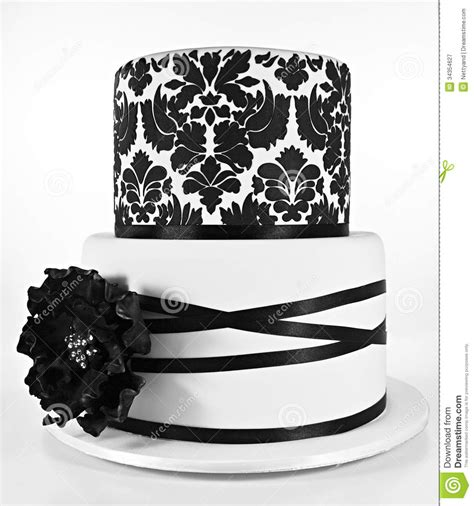black pattern cake black and white two tiered cake stock image image 34354627