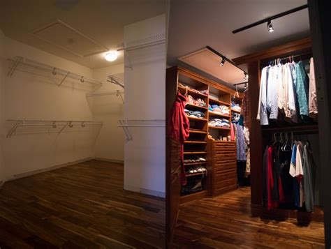 Track Lighting Closet by Before And After For Closet Conversion From Typical Wire