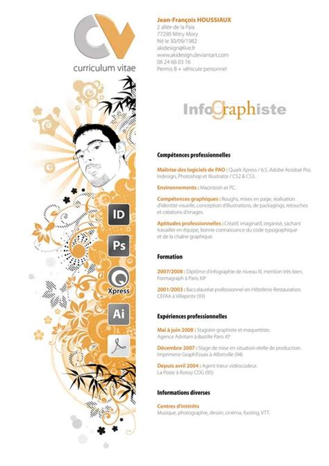 cv resume design inspiration 54 impressive and well designed resume exles for
