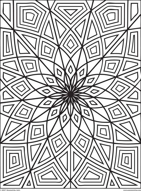 optical illusion coloring pages    print