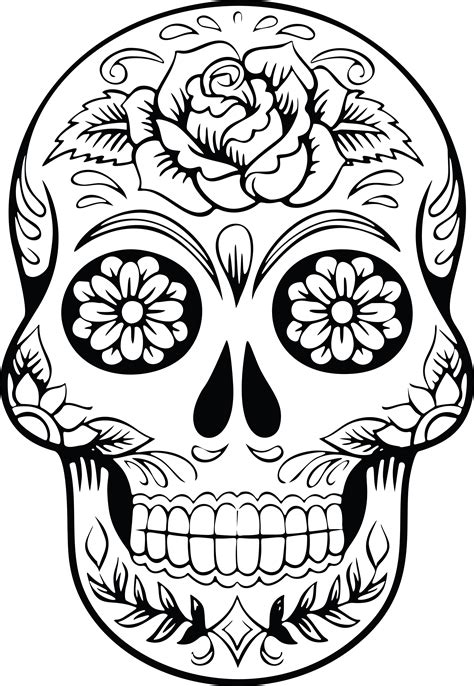 free clipart of a sugar skull printables clipart svg s