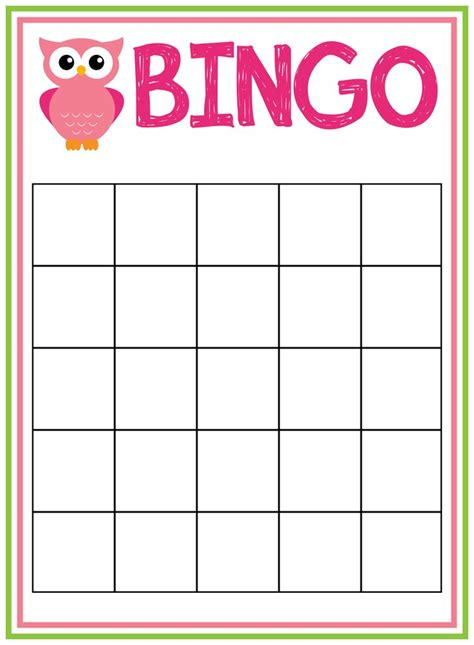 Baby Shower Bingo Card Template by Baby Shower Bingo Cards Baby Shower Ideas