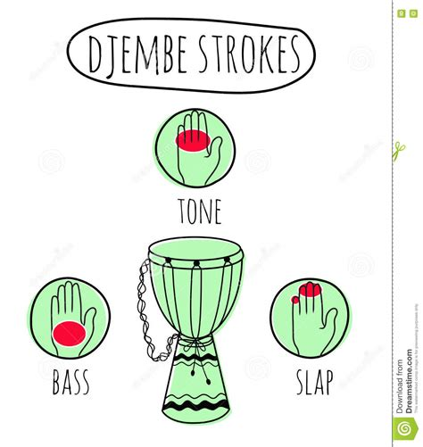 drum circle tutorial drumhead cartoons illustrations vector stock images