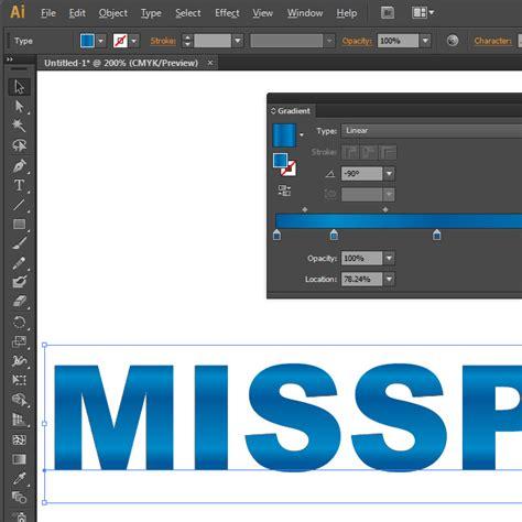 adobe illustrator cs6 gradient text adobe illustrator gradient fills in text miss print