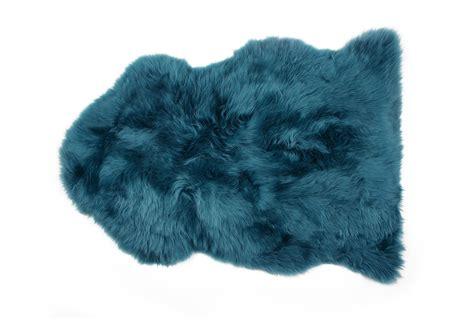 Blue Sheepskin Rug by Fibre By Auskin Sheepskin Rug Premium Tasman Blue Green