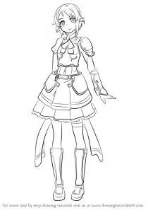 Trace Drawing Online Learn How To Draw Lisbeth From Sword Art Online Sword Art