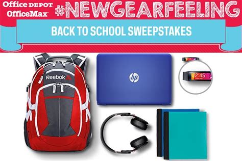 Office Depot Sweepstakes - office depot newgearfeeling back to school sweepstakes sweepstakesbible