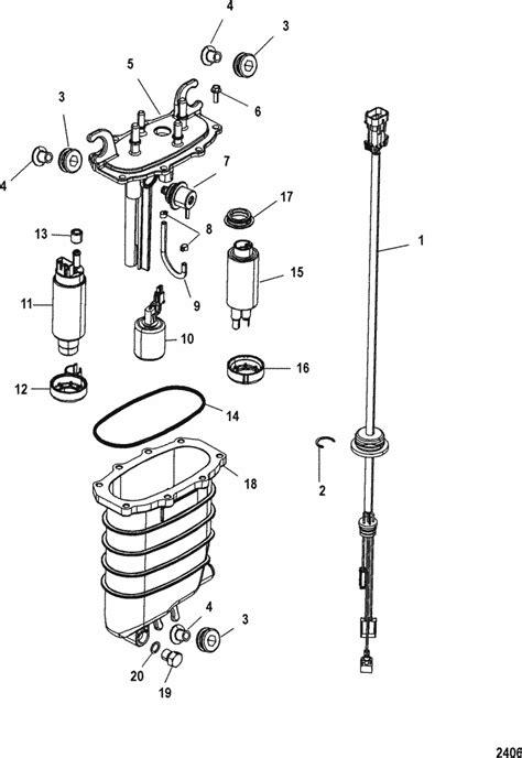 mariner  hp verado  stroke  cylinder fuel supply module parts