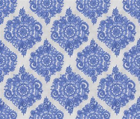 blue moroccan pattern cobalt blue floral moroccan doodle on grey wallpaper