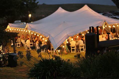 Feestoon lighting in an 18 x 16 Stretch Tent . #weddings #