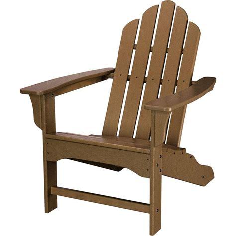 Patio Adirondack Chair Trex Outdoor Furniture Hd Classic White Patio Adirondack Chair Txwa16cw The Home Depot