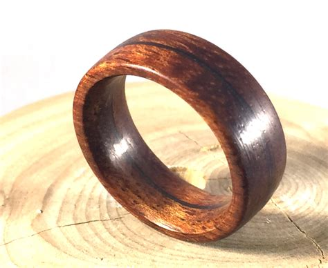 Wedding Rings Made Of Wood by Mens Ring Wooden Ring Mens Wood Ringwood Ring Koa Wood