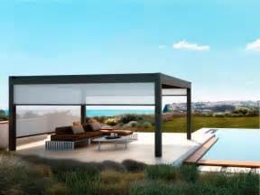 Pergolas With Retractable Canopies by Freestanding Aluminium Pergola Nomo Pergolas Collection By