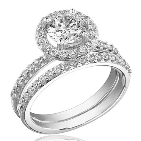 wedding rings sets white gold wedding ideas