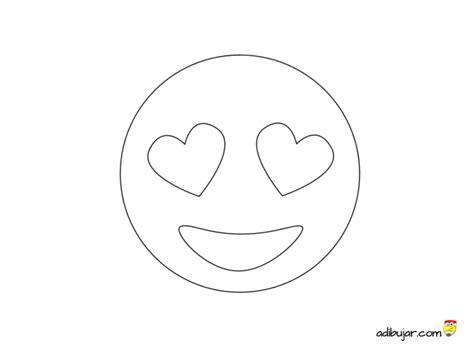 imagenes de emojis para dibujar emoticon con ojos corazon para colorear adibujar com