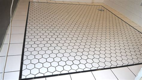 10 In Hexagon Floor Black And White - white hexagon floor tile with black grout tiles flooring