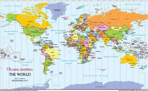 printable a4 world map showing countries world a4 timezones map global mapping isbn