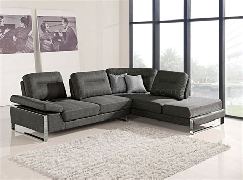 1372 sectional sofa in gray fabric by at home usa