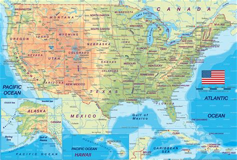 us geography map usa map images