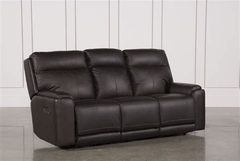 living spaces recliner sofa sinjin power reclining sofa w power headrest living spaces