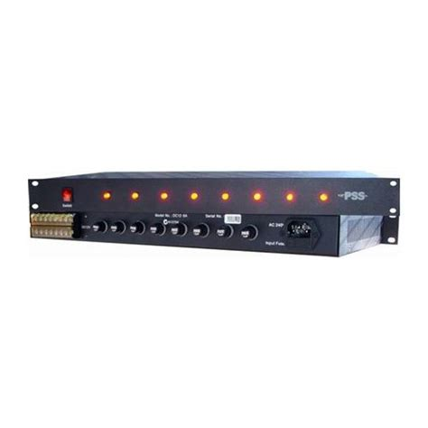 Rack Power Supply by Ness Corporation 12vdc 8 1ru Rack Mount Power Supply