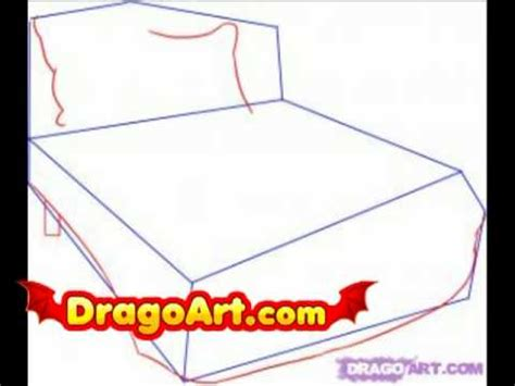 how to draw a bed step by step how to draw a bed step by step youtube