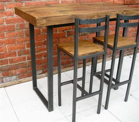Table With Bar Stools by Breakfast Bar Table Bar Stools Rustic By