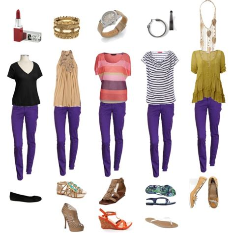 what goes with purple what to wear with purple pinkish skinny pants polyvore