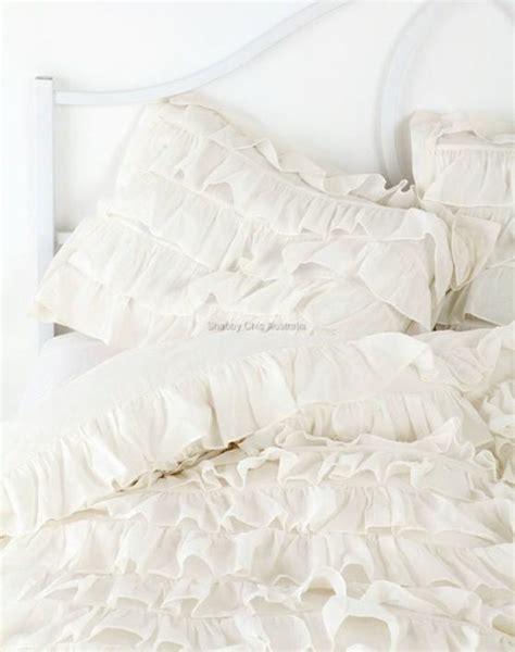 ivory ruffle comforter shabby petticoat ruffle chic ivory ruffled queen bed duvet