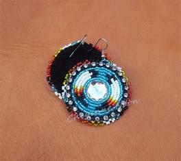 native american beaded earrings two feathers by cheyennenoon