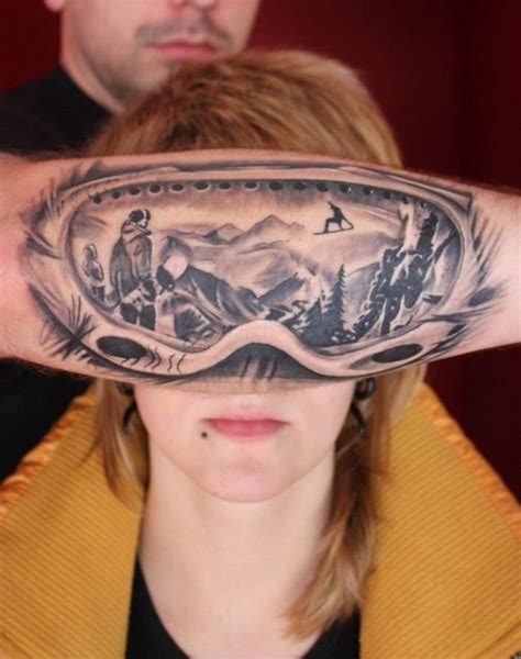 tattoos for skiing and snowboard snowboard