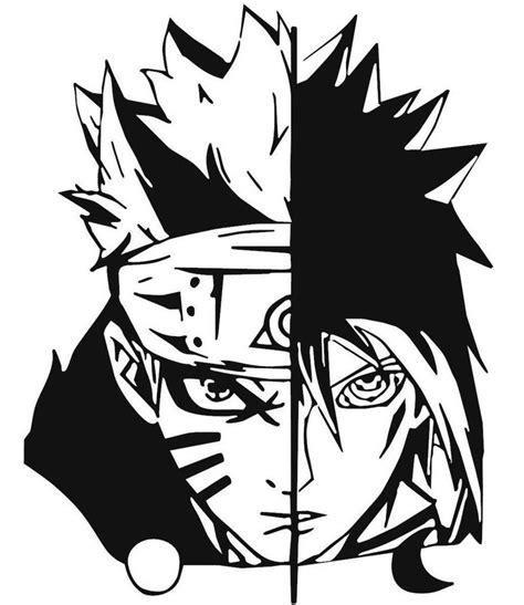 Stiker Anime Black Clover uzumaki and sasuke uchiha decal kyokovinyl