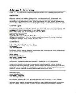 Resume Web Templates by Sle Web Developer Resume 7 Free Documents In Word Pdf