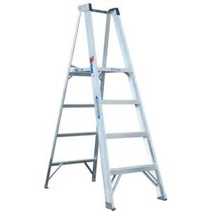 home depot ladders werner werner 4 ft aluminum platform step ladder with 300 lb