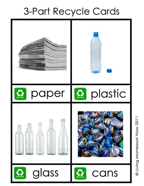 recycling cards printable recycling labels