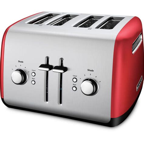 Silver Toaster kitchenaid 4 slice and silver toaster kmt4115er the