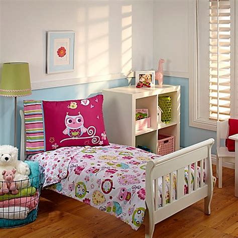 bed bath and beyond kids bedding everything kids by nojo 174 hoot hoot 4 piece toddler
