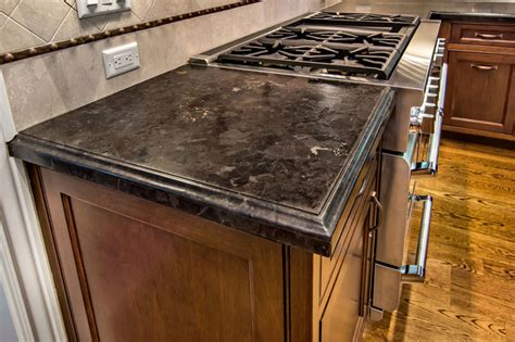 Kitchen Sinks And Faucets brown antique leather granite traditional kitchen