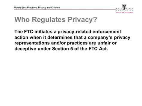 section 5 of the ftc act mobile marketing code of ethics privacy and children