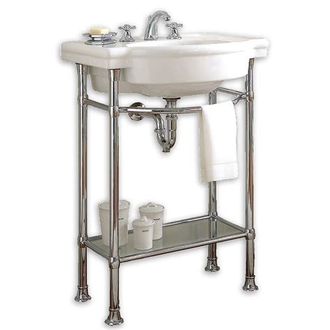bathroom console sink metal legs