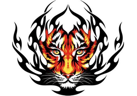 Logo Macan api kepala harimau vektor hewan vektor gratis gratis