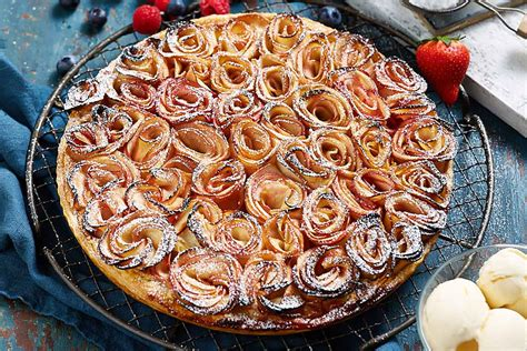 glam apple tart recipe  homes  gardens
