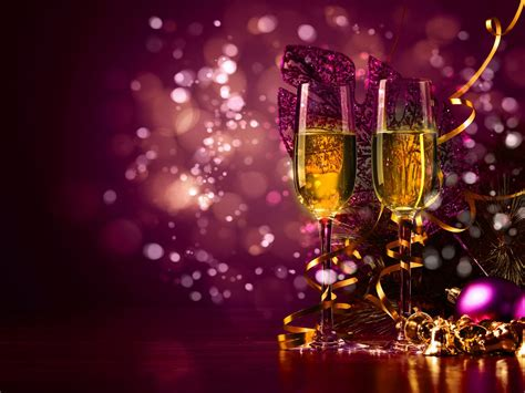 years toast  glasses  champagne cute purple