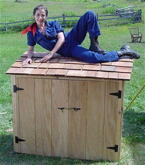 Wood Outdoor Storage Bench Pallet Garbage Storage Box Pallets Designs