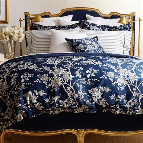 Damask Duvet Cover King Ralph Lauren Deauville Blossom Print Collection