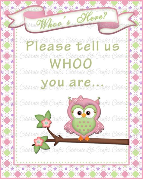 printable owl welcome sign baby shower welcome sign printable baby shower party