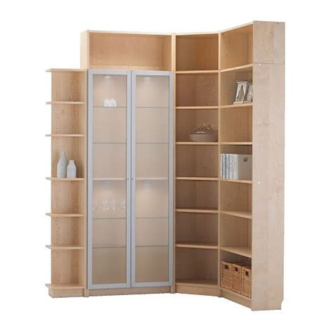 ikea corner bookshelves corner bookcase from ikea pair of glass doors stile fibr flickr
