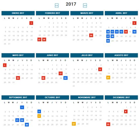 Calendario Con Los Feriados 2017 Feriados 2017 Ojo Ministerio Interior Se Hace El