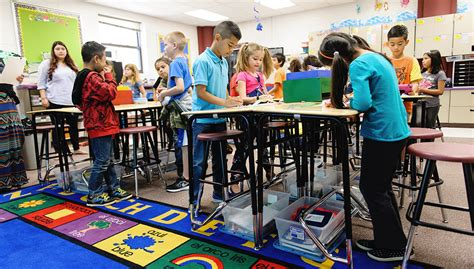 Classroom Exercise Equipment Has Benefits For Students Students In Desks